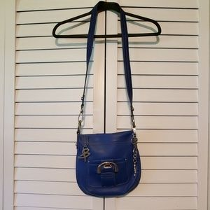 B. Makowsky Crossbody Bag and Key Fob, Blue